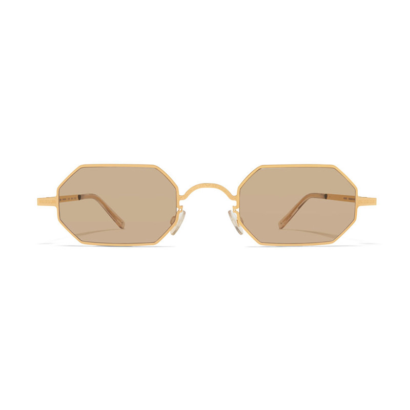 mykita + maison margiela brown gold